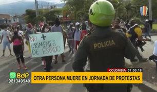 Colombia: nueva jornada de protestas deja un nuevo fallecido y seis heridos