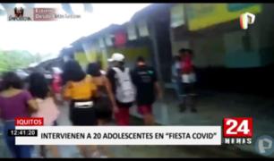 20 menores intervenidos en 'fiesta COVID' en Iquitos