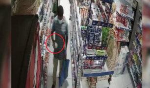 Cae 'carita de atún': sujeto robaba conservas de pescado en tiendas de Surco