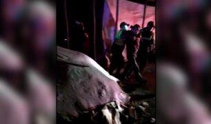 """Huancayo: asistentes a """"fiesta covid"""" atacaron a ladrillazos a policías durante intervención"""