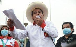 Pedro Castillo presentó parte de su equipo técnico con el que elaboró su plan de Gobierno