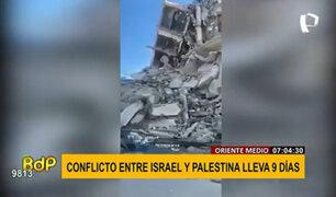 Conflicto palestino-israelí lleva nueve días de violencia continua