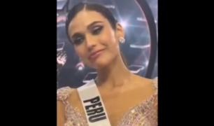 """[VIDEO] """"Tú eres la ganadora"""": Janick Maceta rompió en llanto ante el apoyo en Miss Universo 2021"""