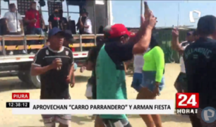 Piura: peruanos y extranjeros arman fiesta sin respetar normas sanitarias