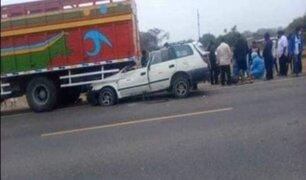 Tres muertos dejó violento accidente en carretera Piura - Chulucanas
