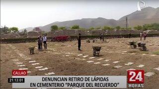 """Callao: más de 50 familias denuncian desaparición de lápidas en """"Parque del recuerdo"""""""