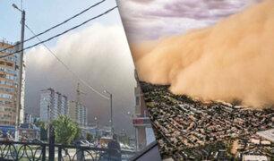 Tormenta de arena cubre totalmente una ciudad en Rusia