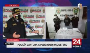 Policía Nacional captura a peligroso raquetero en Chorrillos