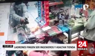 Iquitos: asaltantes se disfrazan de ingenieros para robar más de 15 mil soles