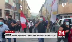 Así fue la agresión de simpatizantes de Perú Libre a periodistas en Ayacucho