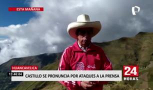 Pedro Castillo rechazó agresión a la prensa tras mitin en Ayacucho