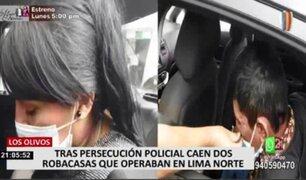 Los Olivos: caen dos robacasas que operaban en Lima Norte