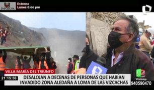 VMT: decenas de familias fueron desalojadas de la Loma de las Vizcachas