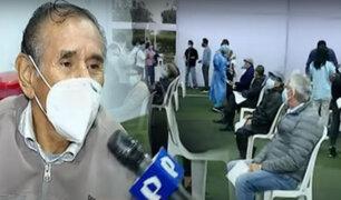 San Borja: adultos mayores de 65 años esperan ser vacunados contra la COVID-19