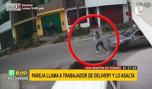 SMP: delincuentes llaman a repartidor delivery para robarle