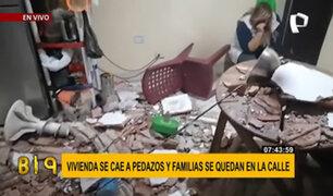 VES: vivienda en mal estado se cae a pedazos y tres familias se quedan en la calle