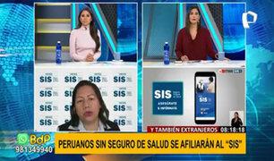Extranjeros también podrán afiliarse al SIS con su carnet de extranjería