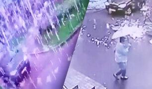 "Rayo cae y causa extraña ""lluvia de chispas"" en Rusia"