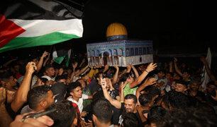 """Palestinos celebran """"alto al fuego"""": Israel acepta tregua y pone fin a bombardeos"""