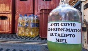 """Huancayo: bar clandestino ofrecía a parroquianos novedoso licor  """"anti- covid"""""""