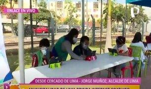 Municipalidad de Lima brinda Internet gratuito y acompañamiento pedagógico a estudiantes