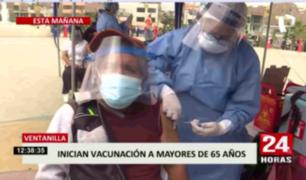 Ventanilla inició vacunación para mayores de 65 años