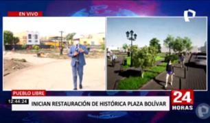 Pueblo Libre: inicia remodelación de Plaza Bolívar