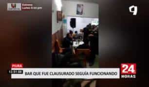 Bar en Piura seguía funcionando pese a que fue clausurado