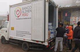 Banco de alimentos Perú llevó ayuda a más de 100 familias de Pamplona Alta