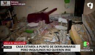 VES: inquilinos salvan de morir luego que parte de vivienda colapsara