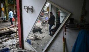 Terremoto de 6,4 grados de magnitud deja hasta el momento 3 muertos y 27 heridos en China