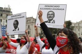 Realizan marcha en contra de la candidatura de Keiko Fujimori