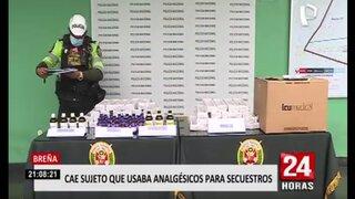 Breña: detienen a sujeto que comercializaba productos analgésicos usados por secuestradores
