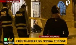 SJL: dos muertos y dos heridos dejó balacera al interior de una vivienda