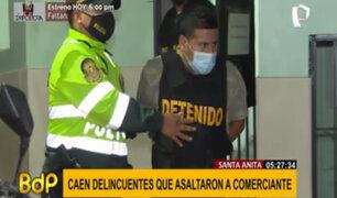 Santa Anita: capturan a delincuentes que robaron más de 25 mil soles a comerciante