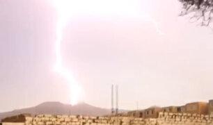 Presencia de rayos y truenos alarmó a  Lima y Callao