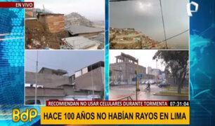 Truenos y relámpagos en Lima: intensa lluvia y fuertes vientos se registran en SJM