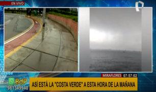 Truenos y relámpagos en Lima: así se encuentra la Costa Verde a esta hora del día