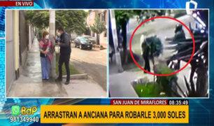 Anciana golpeada durante asalto en SJM: le fracturan brazo para robarle 3 mil soles