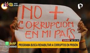 España: novedoso programa busca rehabilitar corruptos en prisión