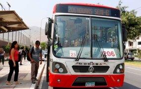 Corredor rojo: servicio 206 ampliará su recorrido hasta San Miguel