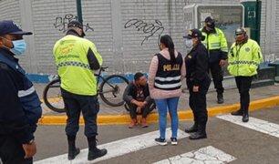 Surco: intervienen a ciudadano extranjero con bicicleta que minutos antes había robado