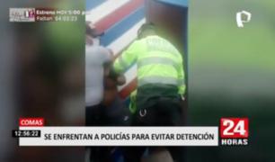 Comas: familiares de presuntos delincuentes se enfrentaron a policías para evitar detención