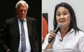 "MVLL pide a Keiko Fujimori salvar a Perú de ""caer en manos del totalitarismo"""