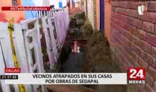 Callao: vecinos denuncian que obras inconclusas de Sedapal ponen en riesgo su salud