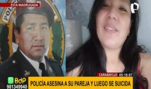 Carabayllo: Policía asesina a balazos a su pareja embarazada y luego se quita la vida