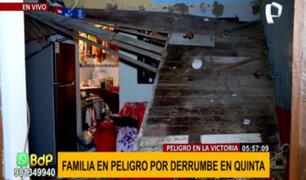 La Victoria: tres heridos deja derrumbe de vivienda en quinta