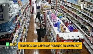 La Molina: cámara de seguridad registra dos robos de tenderas en minimarket