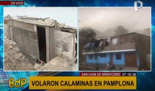 VMT: más de 40 viviendas de material noble en riesgo tras fuertes vientos
