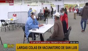 Complejo Andrés Avelino Cáceres: Vacunación se desarrolla en orden y sin aglomeraciones